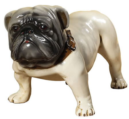 Bulldog  Sculpture, White