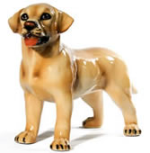 Standing Yellow Lab Puppy Sculpture