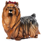 Yorkshire Terrier with Bow Sculpture