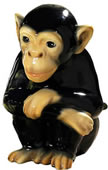 Ceramic Monkey Sculpture
