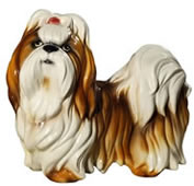 Shih Tzu with Bow Sculpture