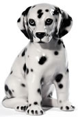 Dalmatian Sitting Sculpture, Small