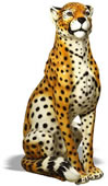 Ceramic Cheetah Sculpture, Male