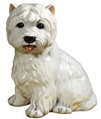 West Highland Terrier Ceramic Dog Sculpture
