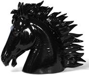Black Stallion Horse Bust
