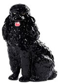Black Poodle Sculpture