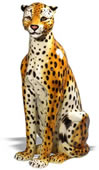 Ceramic Cheetah Sculpture-Female