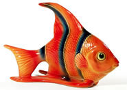 Angel Fish Sculpture-Orange Blue