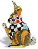Fantasia Ceramic Rabbit Sculpture