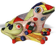 Fantasia Ceramic Frog Sculpture