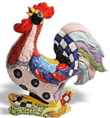 Fantasia Ceramic Rooster Sculpture