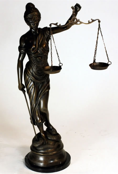Bronze Lady Justice Sculpture