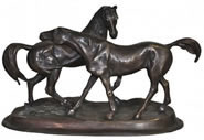 Bronze Courting Horses