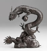Bronze Dragon Sculpture