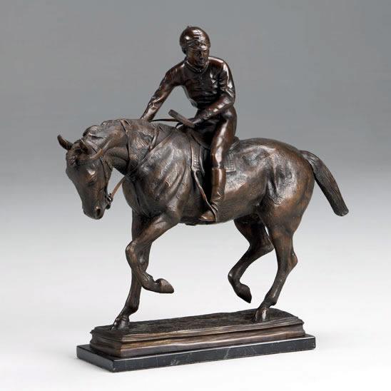 Global Views Horse: Jockey On Horse, JN-Bronze, JNA1895ACM