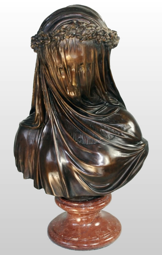 The Veiled Lady Bust Jn Bronze Jna6104 Allsculptures Com