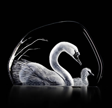 Crystal Swans