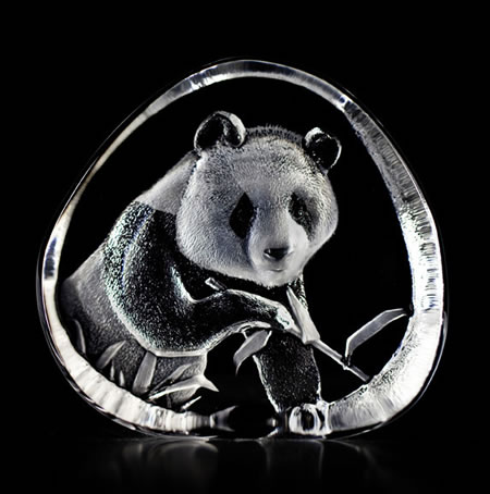 Crystal Panda Bear Sculpture