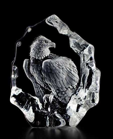 Crystal Bald Eagle Statue