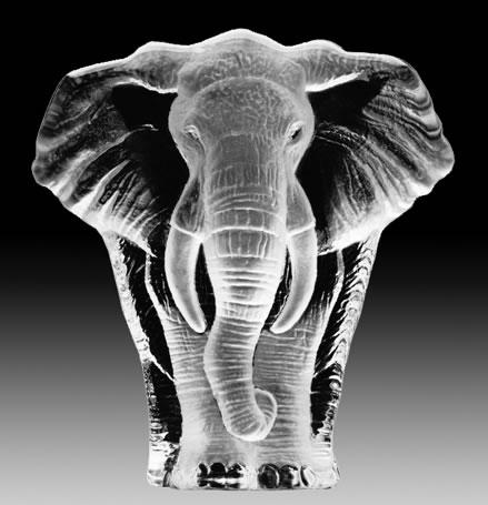 Crystal Elephant Statue Mats Jonasson Crystal All Products 33664
