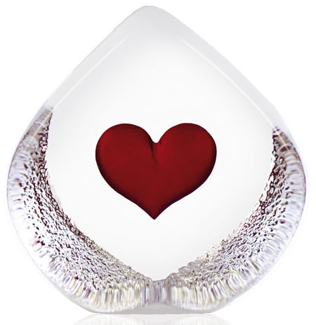 Crystal Heart Figurine, Small