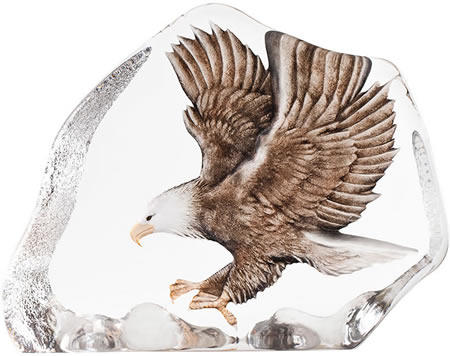 Large Crystal Eagle in Flight Sculpture