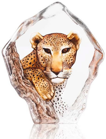 Leopard Crystal Sculpture, Limited Edition