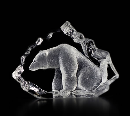 Crystal Polar Bear Figurine