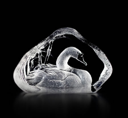 Crystal Swan Statue I