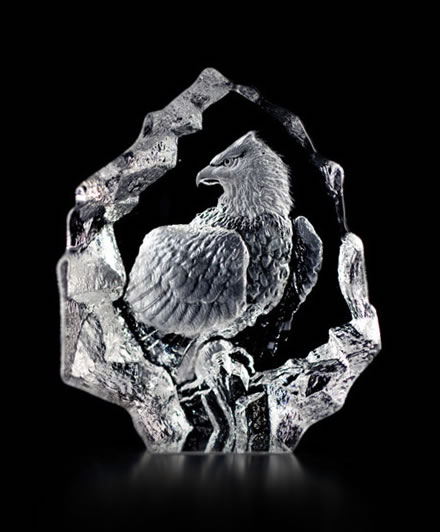 Crystal Bald Eagle Figurine