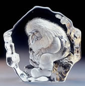Crystal Seated Troll Statue