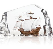 Caravelle Crystal Sailing Ship Sculpture