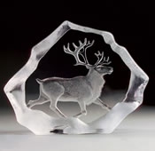 Crystal Reindeer Sculpture