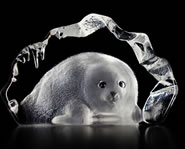 Crystal Baby Seal Figurine I