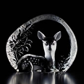 Crystal Fawn Deer Statue