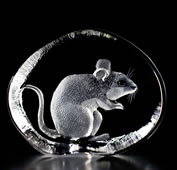 Crystal Mouse Figurine