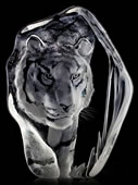 Crystal Tiger Sculpture III