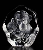 Crystal Chimpanzee Figurine