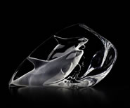 Crystal Killer Whales Sculpture