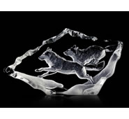 Running Wolf Pair Figurine