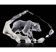 Crystal Grizzly Bear Statue
