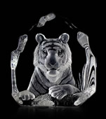 Crystal Bengal Tiger Statue