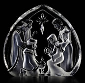 Crystal Holy Family Nativity Sculpture