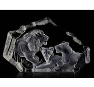 Crystal Lion Pride Sculpture