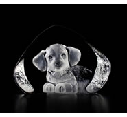Harrier Hound Pup Crystal Statue