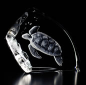 Crystal Sea Turtle Figurine