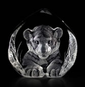 Crystal Tiger Cub Figurine