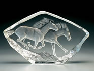 Crystal Horses Sculpture