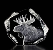 Moose Crystal Statue