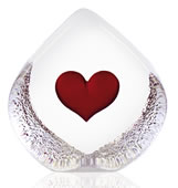 Crystal Heart Figurine